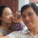 Minh Minh với bố mẹ