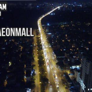[4K] ĐÊM NGOẠI Ô – AEON MALL Long Biên of Night  – Góc nhìn Flycam Mavic Pro #11