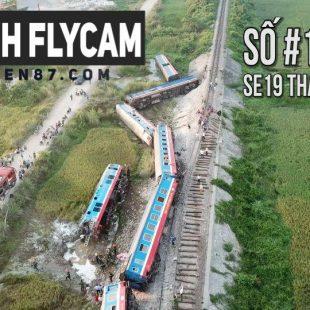 [4K] Cận cảnh toa tàu SE19 bị lật ở Thanh Hóa – Lăng kính Flycam 's dTien87 #14