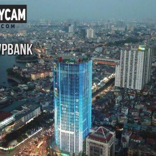 [4K] Tòa Nhà VPBank – Tòa nhà cờ đỏ sao vàng U23 bay từ ANPHATPC – Góc nhìn Flycam Mavic Pro #12
