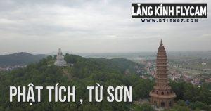 Chua Phật tích - Phat tich Pagoda flycam nhin tren cao