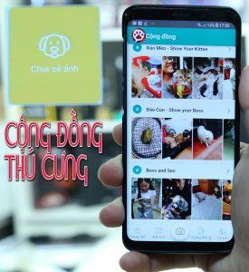 Cong Dong Thu Cung ứng dụng thú y gọi bác sĩ , cộng đồng chia sẻ ảnh, sàn trao đổi mua bán thú cưng chó mèo vPET