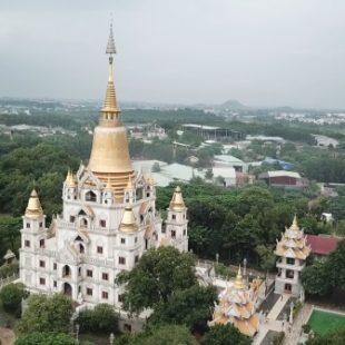 Flycam vs Chùa Bửu Long Q9 , Hồ Chí minh – Buu Long Pagoda | dTien87.com